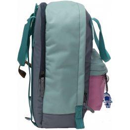 Рюкзак Bagland Liberty 19 л. Серый/розовый (0050266)
