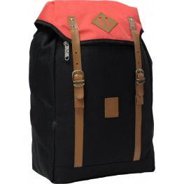 Городской рюкзак Bagland Successful 17 л. Чёрный/красный (0050466)