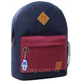 Рюкзак Bagland Молодежный W/R 17 л. 330 чорнильний/вишня (00533662)